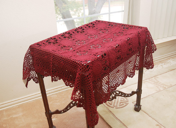 Crochet square tablecloths 36x36""