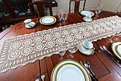 crochet table runners, ecru crochet runers