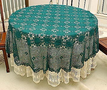 "Crochet Round tablecloth 72""Round"