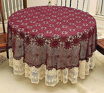 Crochet Round Tablecloths.