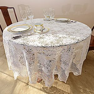crochet round tablecloths