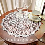 White Round Placemat