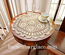 Crochet Round Placemat 18""